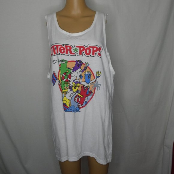 District Otter Pops Beach Party Tank Top White Lrg